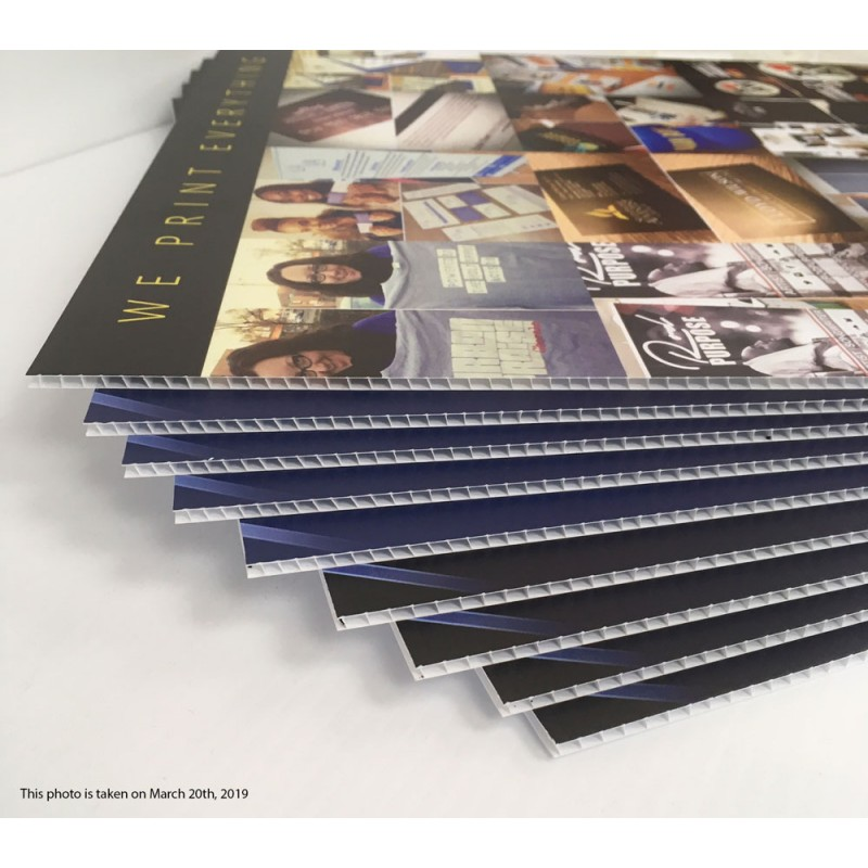 4mm COROPLAST 48 x 96 double side full sheet uv direct print (Price for online only)