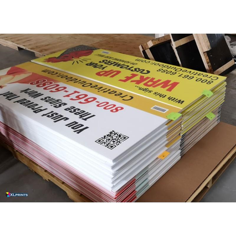 4mm COROPLAST - uv direct print (Customized size)
