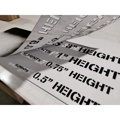 Stencil cutting - 60pt styrene (No printing)