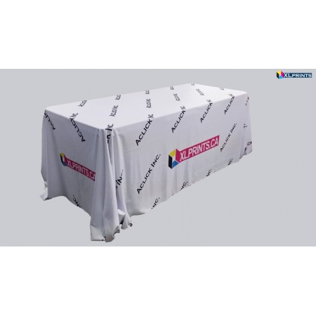 Table cloth: 4ft table  4-sided Boxed Hemmed