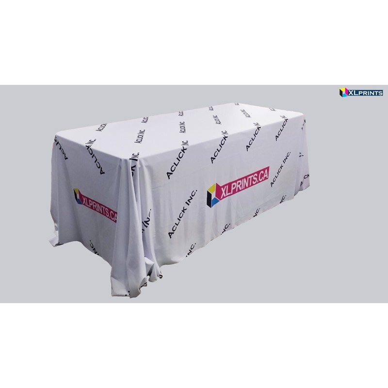 Table cloth: 8ft table 4-sided Boxed Hemmed