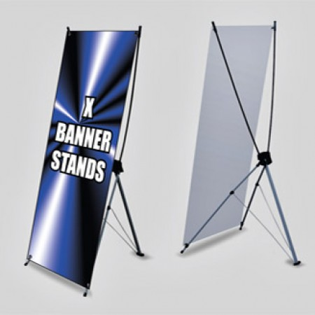 X - Stand Banner with Hardware 24x63