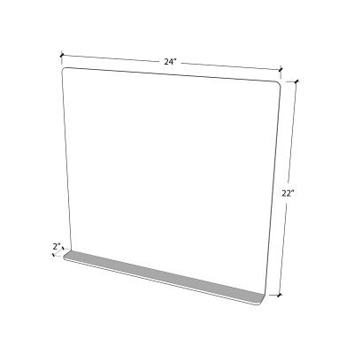 Food court/Class room Sneeze Guard 24x22 3mm Acrylic  - 8 sets