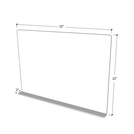 Food court/Class room Sneeze Guard 32x22 3mm Acrylic  - 6 sets