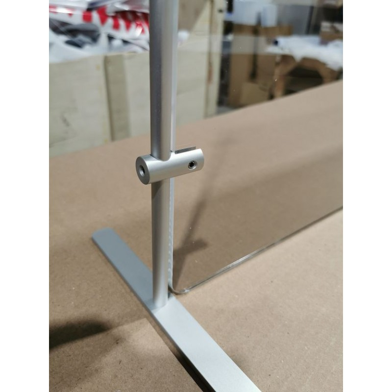 Aluminum Adjustable Post for acrylic Sneeze guard 24 inch