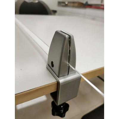Table cross Sneeze guard clamp brackets
