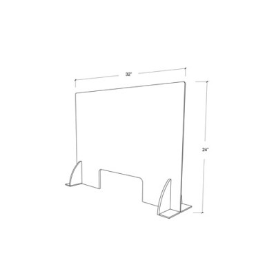Premium Cough & Sneeze Guard 32x24 3mm Acrylic (with stabilizer)