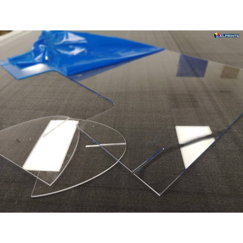 6mm clear acrylic square cut (10+ sheets)- online order only
