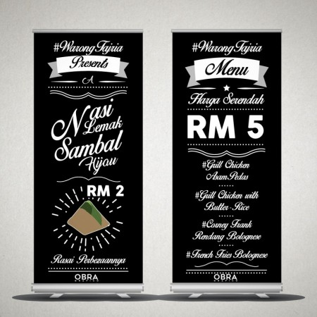 Premium Stand with Decolit Material Print 33.5x79