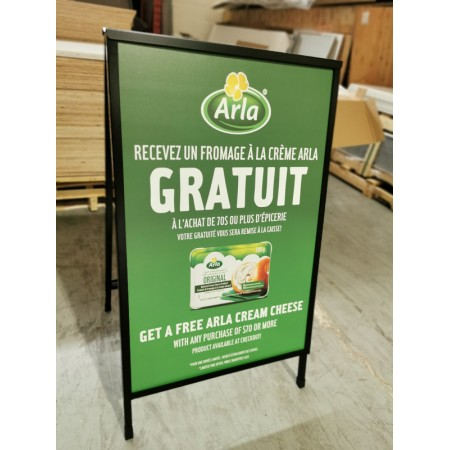 Heavy Duty Metal A Frame with printing