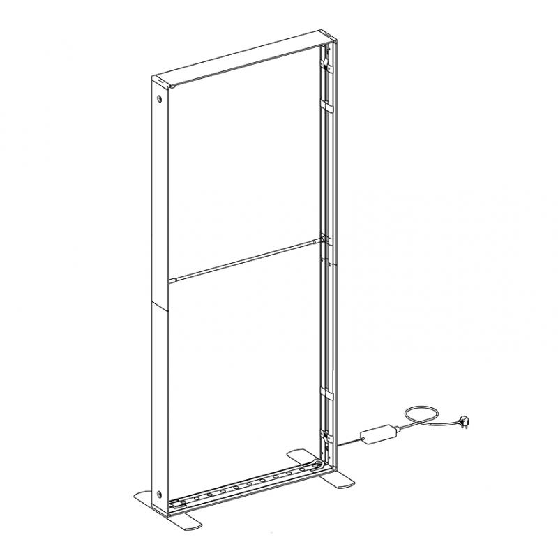 SEG LED system 100*225cm (39x89inch) - frame only
