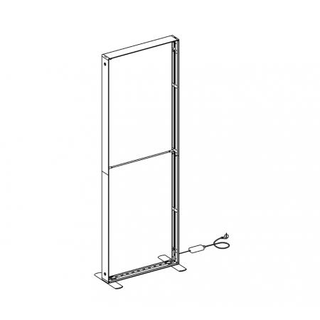 SEG LED system 100*250cm (39x98.5inch) - frame only