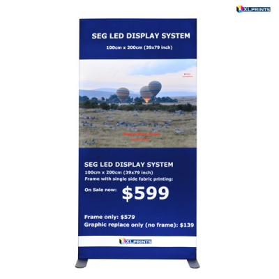 SEG LED system 100*200cm (39x79inch) - frame with single side fabric printing