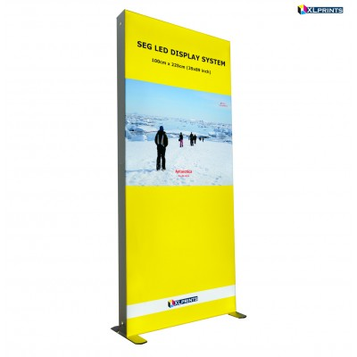 SEG LED system 100*225cm (39x89inch) - frame with single side fabric printing