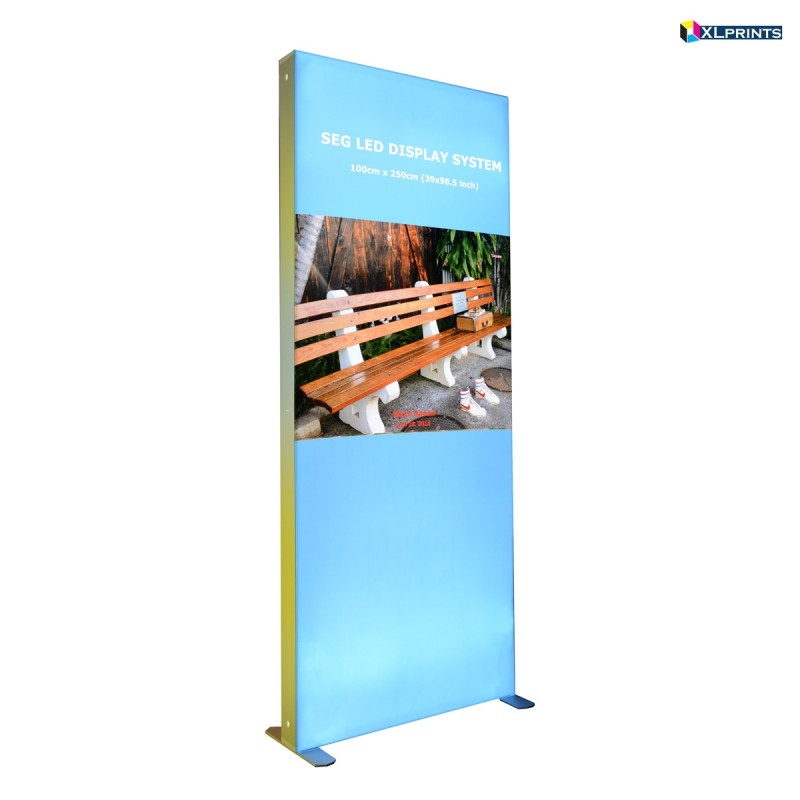 SEG LED system 100*250cm (39x98.5inch) - frame with single side fabric printing  (free shipping)