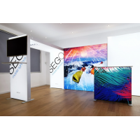 SEG LED system 100*250cm (39x98.5inch) - frame with single side fabric printing