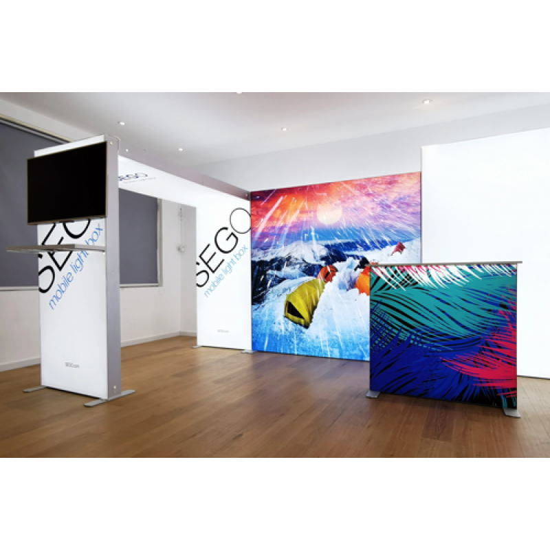 SEG LED system 300*250cm (118x98.5inch) - frame with single side fabric printing