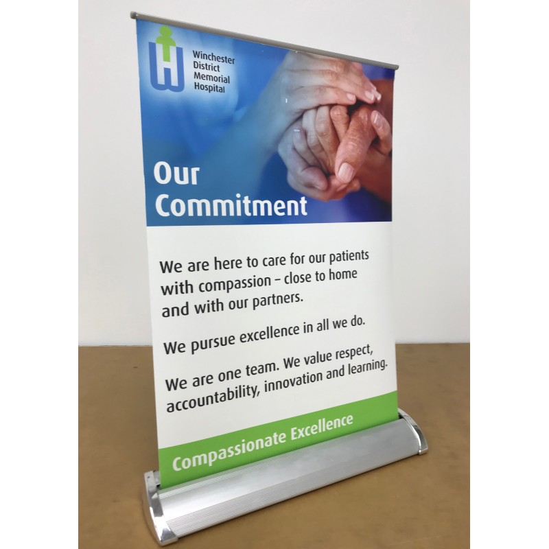 Table top Roll Up 11.75x17 inch